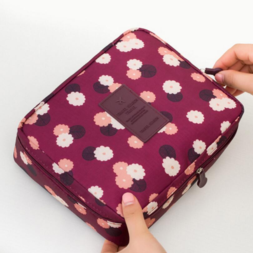 NEW Waterproof Portable Zipper Cosmetic Bag dot beauty Case Make Up Tas Purse Organizer Storage Travel Wash Pouch