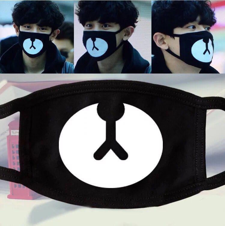 Cute Cartoon Muffle EXO-K Chanyeol Face Respirator Anti Dust Mask Kpop Cotton Mouth Mask EXO Chan Yeol Bear Mouth Mask