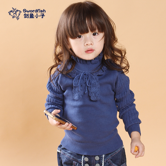 2015 autumn and winter children's new arrival sweater girls baby fashion princess lace long-sleeved cardigan sweaters caots kids