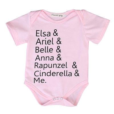 d6873d917d2c Newborn Baby Girl Boys Cotton Summer Style Pink Short Sleeve Newborn ...