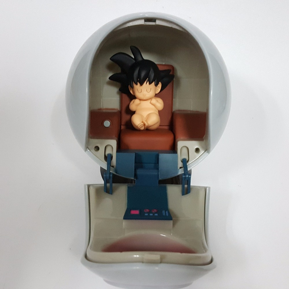 Dragon Ball Z Figures Baby Son Goku Kakarotto With Spaceship PVC Action Figure Spacecraft Toy Super Goku Anime Super Saiyan Hot 6pcs set dragon ball z son goku vegeta broly kakarotto battle ver pvc action figures dragonball figure toys collection model toy