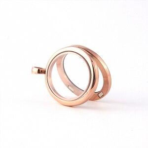 Image 3 - ויני עיצוב תכשיטי סגלגל תליון נירוסטה זכוכית צף קסמי תליוני 5 יח\חבילה סיטונאי