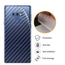 5Pcs Soft 3D Carbon Fiber Sticker Back Film For Samsung Galaxy Note 9 8 S9 S8 Plus S7 S6 edge S5 Soft Back Screen Protector Film(China)