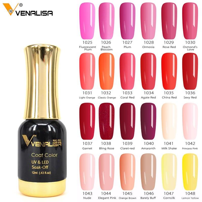 #60751 Venalisa largos, último remojo estrellado Gel UV LED brillo laca polaco manicura 120 Color Super brillante Gel esmaltes de uñas