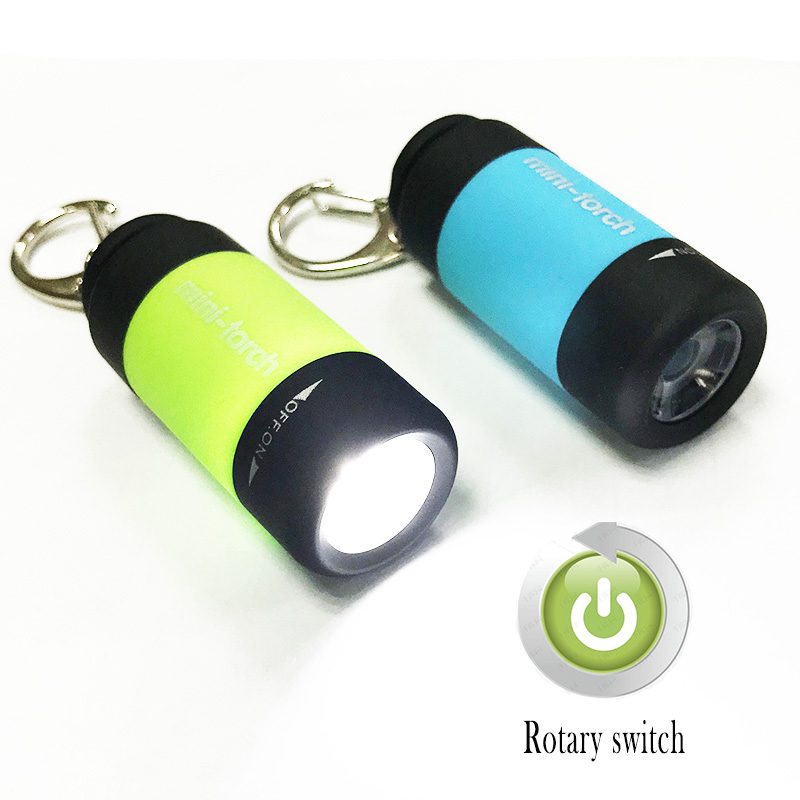 Mini USB Rechargeable Led Torch Flashlight Penlight Small Keychain Flash Light Lamp Protable Pocket Lights Battery For Reading