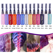 13 Colors One-off Hair Color Dye Temporary Non-toxic DIY Hair Color Mascara Washable One-time Hair Dye Crayons 13 colors one time hair color hair dye temporary non toxic diy hair color mascara dye cream blue grey purple