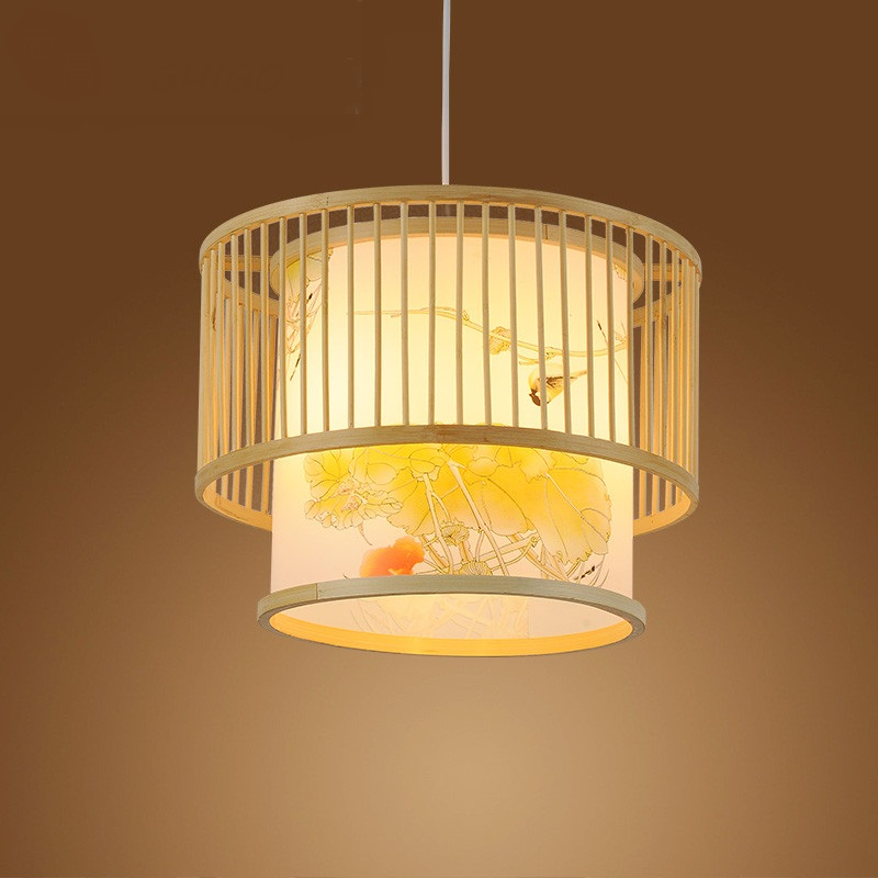 Chinese style bedroom study art bamboo pendant lights creative food products Southeast Asia living room restaurant ZA627 ZL118 southeast asia style hand knitting bamboo art pendant lights modern rural e27 led lamp for porch