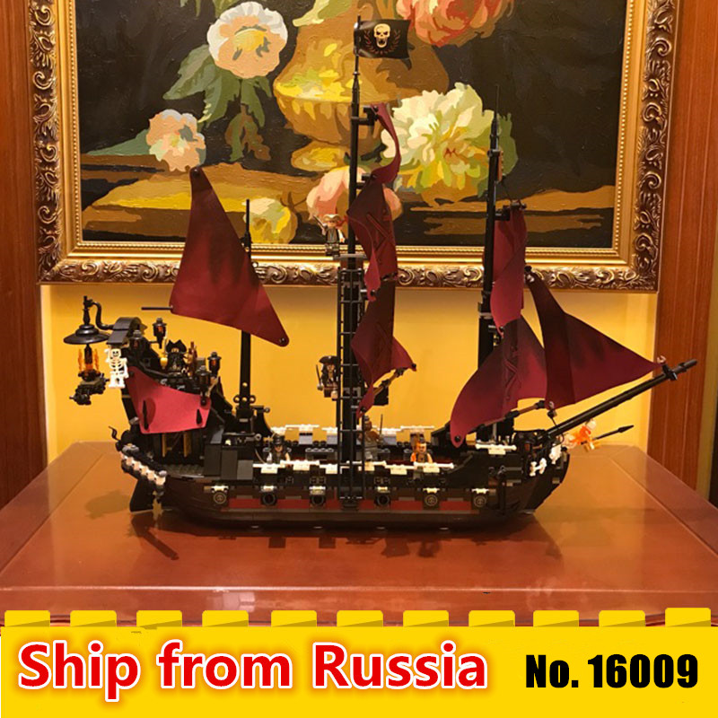 16009 Pirates Of The Caribbean Queen Anne s Reveage boat Model Compatible with 4195 Building Blocks