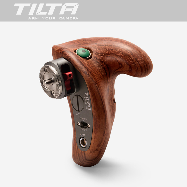 TILTA ใหม่ TT 0511 R จับไม้ handgrip W/REC Trigger ขวาสำหรับ SONY A7 สีแดง ARRI MINI BMD Canon ฟิล์มกล้อง RIG