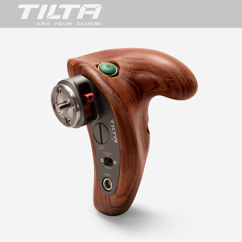 TiLTA NEW TT-0511-R Wooden handle handgrip w/ REC Trigger Right handle For SONY A7 RED ARRI MINI BMD Canon film camera rig camvate dslr handle camera grip wooden handgrip right hand for arri alexa extender arm shoulder support system c1321