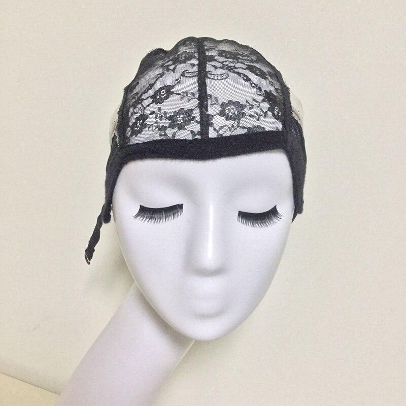 여성을위한 직조 모자 헤어 네트 & Hairnets 가변 스트랩과 가발을 만들기위한 Glueless 레이스 가발 모자 도매 Easycap 6006