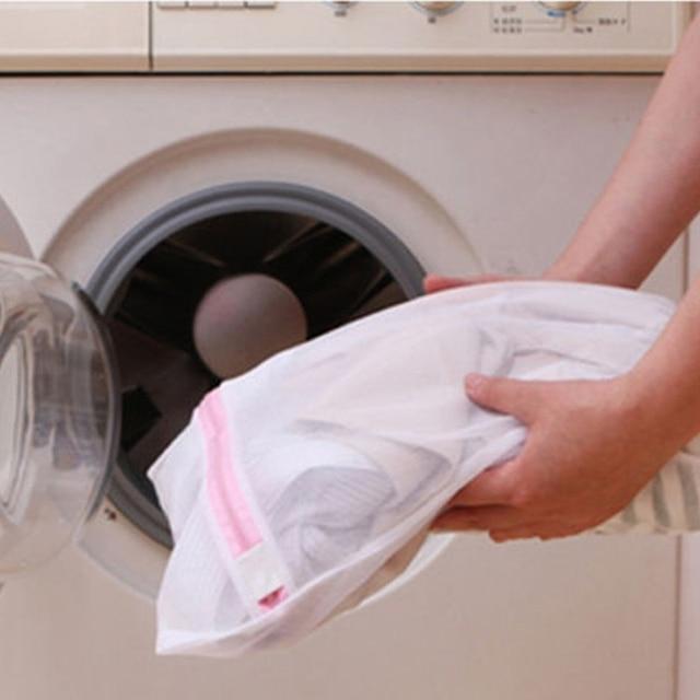 תיק כביסה בגדים גיליון למטה מעילי סיוע כביסה חזייה הלבשה תחתונה Mesh הנקי לשטוף תיק פאוץ סל למכונת כביסה 3 גדלים