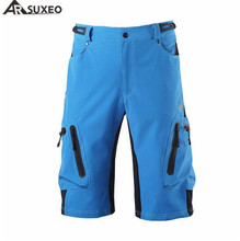 Arsuxeo Summer Mens Cycling Shorts Breathable Loose Outdoor Sports MTB Riding Road Mountain Bike Short Trousers