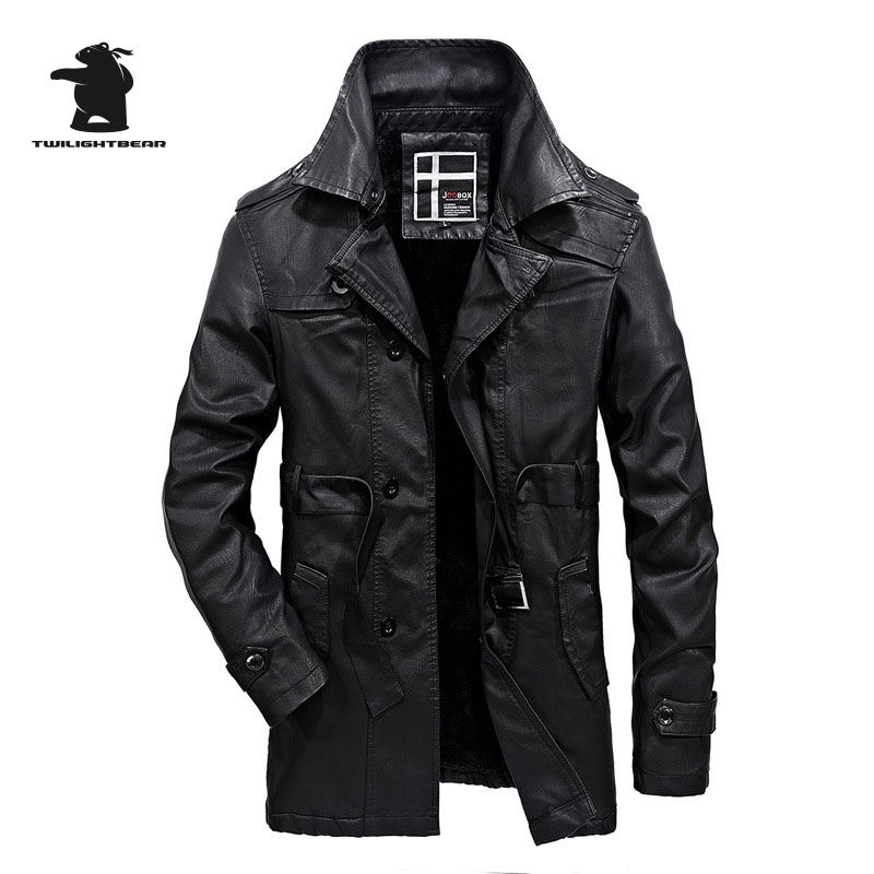 Popular Leather Trench Coats Men-Buy Cheap Leather Trench Coats ...