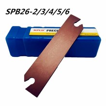 1PCS SPB26-3 / -2 -4 -5 -6 grooving tool holder for SP300 SP400 slotted blade PC9030 NC3030 plug-in tools