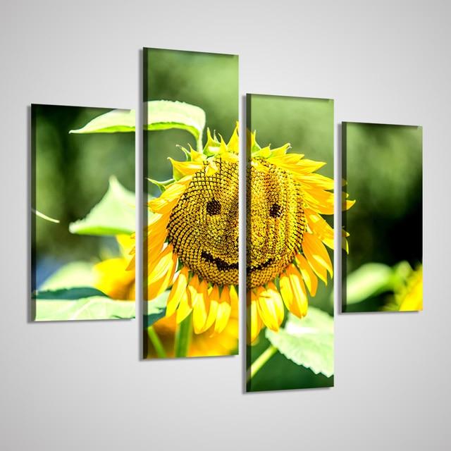 Tienda Online No Marcos Wall imágenes para Sala 4 unidades girasol ...