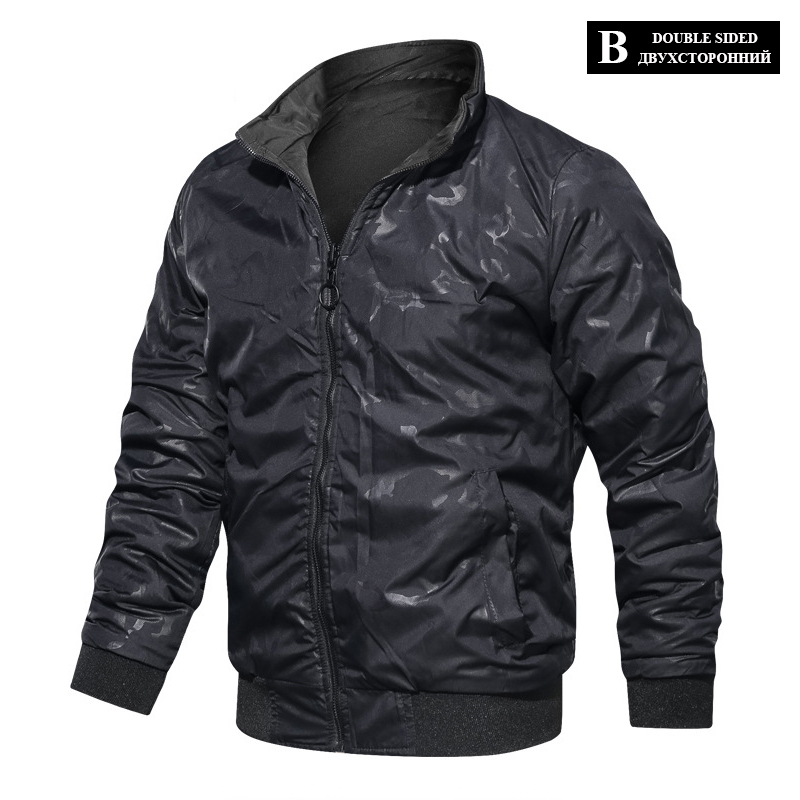 HTB1z3aQXrr1gK0jSZFDq6z9yVXa5 LBL Casual Bomber Jacket Men Slim Fit Autumn Winter Double Side Mens Military Jackets Outwear Coat Man Sportswear Tracksuit 2019