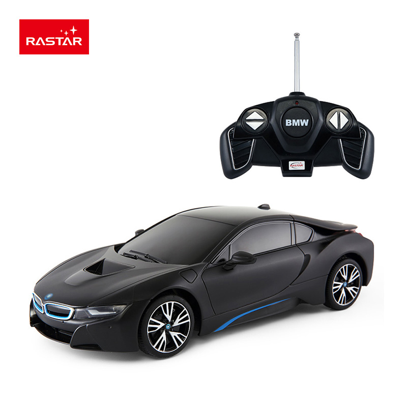 Rastar licensed rc car 1:18 BMW i8 educational remote control car toys with lights inventory white color 59200