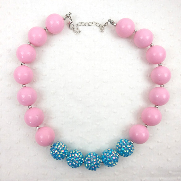 Kids Handmade Bubble Necklace Sweet Butterfly Child Jewelry Chunky Bead Necklace Designs