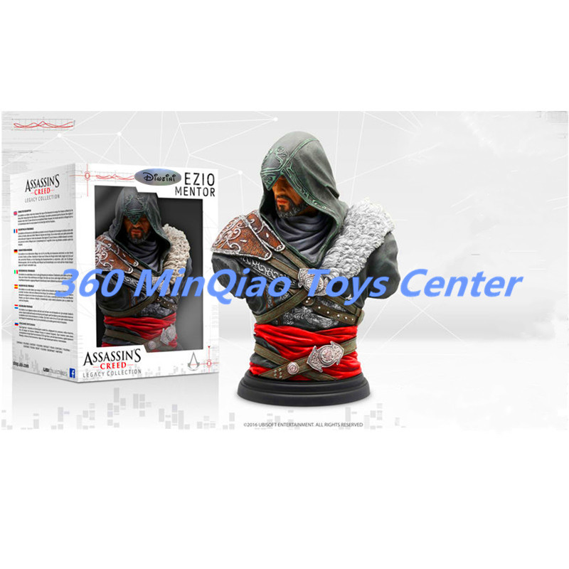Assassin's Creed Legacy Collection - Ezio Mentor Statue Gold Edition Bust Half-Length Photo Or Portrait Collector's Edition