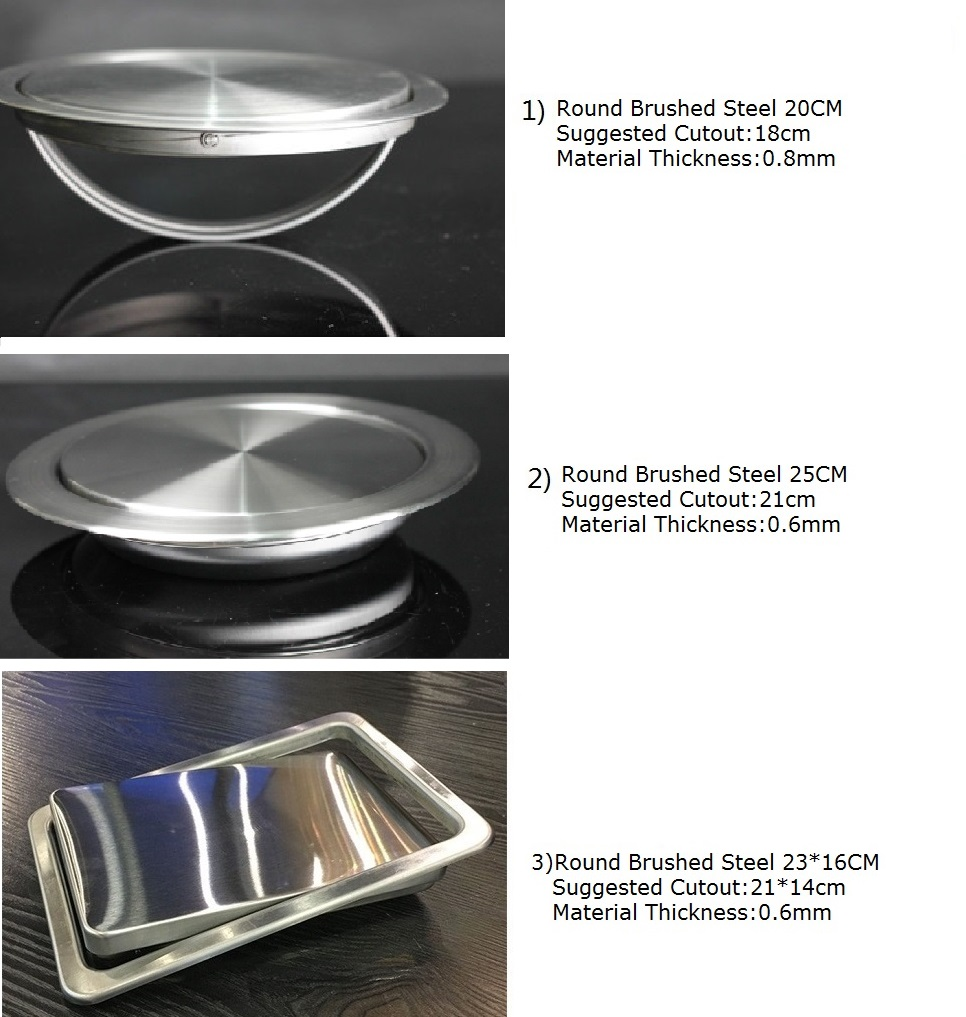 Premintehdw Stainless Steel Recessed Built in Flap Lid Cover For ...