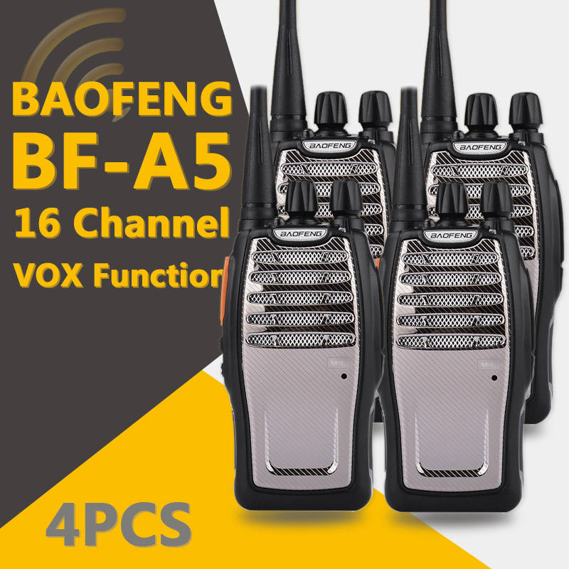 Image 2 - (4 PCS)BaoFeng UHF Walkie Talkie BF A5 16CH VOX+Scrambler Function Free Shipping Two Way Radio-in Walkie Talkie from Cellphones & Telecommunications