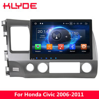 KLYDE 10.1 IPS 4G WIFI Android 8.0 7.1 Octa Core 4GB RAM 32GB ROM Car DVD Player Radio GPS Navigation For Honda Civic 2006 2011