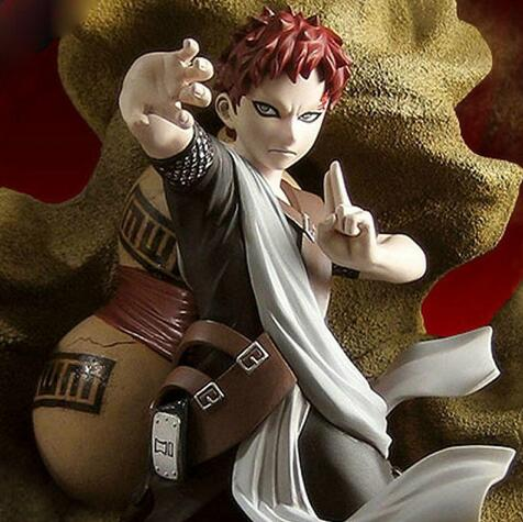 Naruto Gaara 1/8 échelle peinte Figure sable cercueil Ver. Gaara Brinquedos PVC figurine à collectionner modèle jouet 21.5 cm