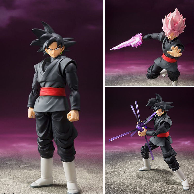 Anime Dragon Ball Z figures Zamasu Super Saiyan ROSE Son Goku Movable joints PVC action figure collection model toys for gift 1pc lot chocolate goku anime dragon ball z figure super saiyan pvc action figures brinquedos collectible model kids toys 29cm