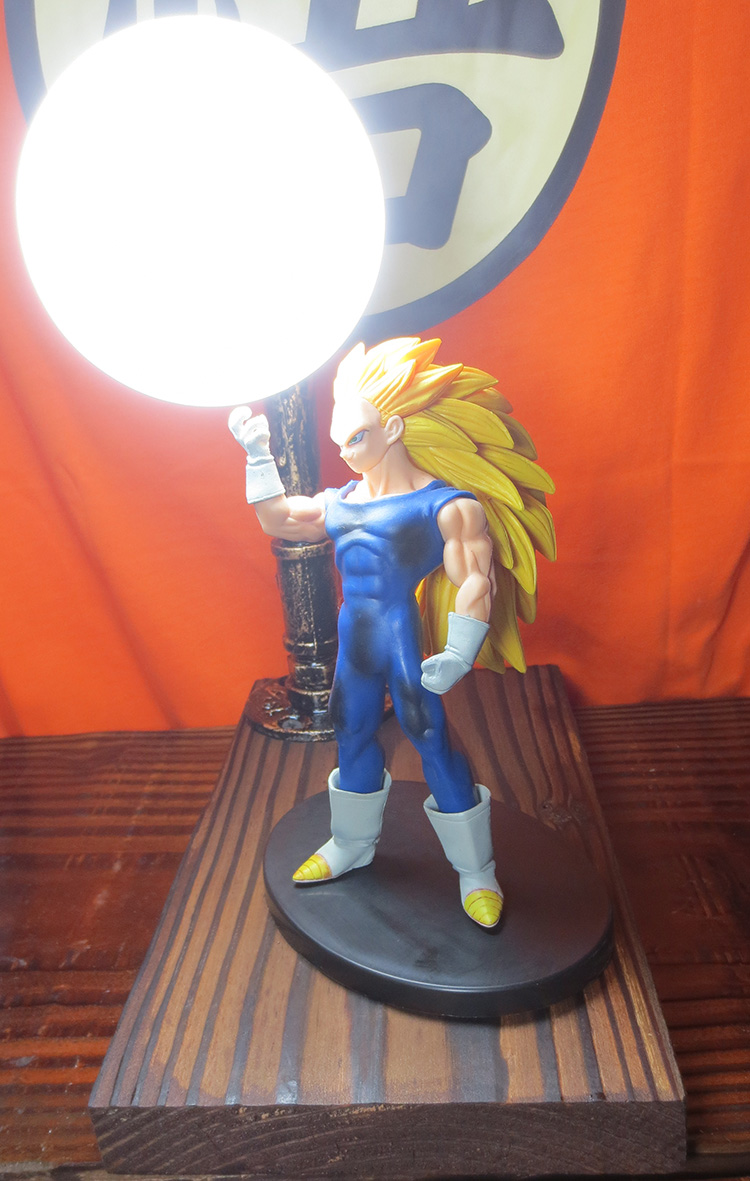 KNL HOBBY LED desk lamps explosion models Dragonball Vegeta hand to do over three led Eye Spot shipping creative birthday gift