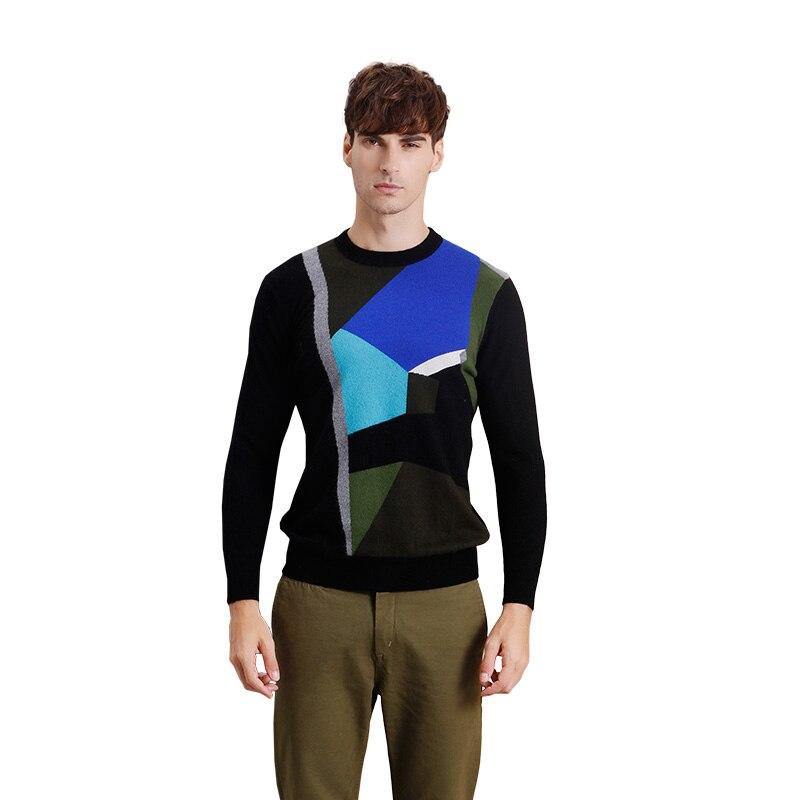 ZHILI Men's Autumn Winter Sleeve Long Cashmere Sweater