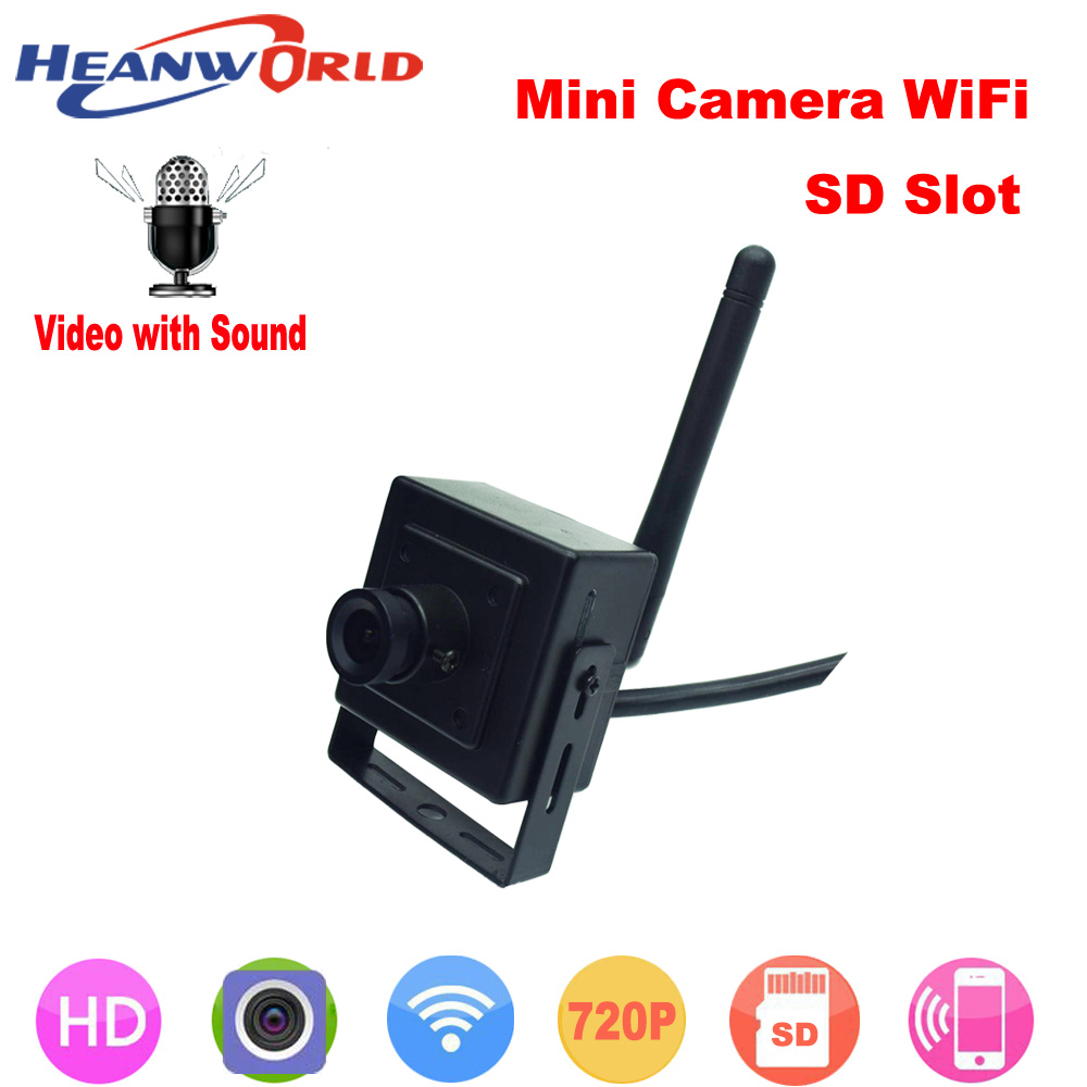 Mini Wifi IP camera have micro SD card slot network wireless IP cam webcam with audio support android and iphone Surveillance small mini ip camera wifi hd 960p wireless cctv network cam microphone audio sd card p2p support android iphone camhi view
