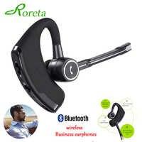 Roreta Neue V8S Business Bluetooth Headset Drahtlose Kopfhörer Auto Bluetooth V4.1 Telefon Freihändiger Mit mic Musik für iPhone Xiaomi