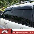 Parasol para ventanas Toldos Refugios Para Mitsubshi Pajero V73 V93 V97 Lluvia Viento Deflector Visera Guardia Vent 4 unids/conjunto