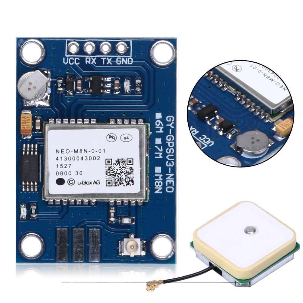 New arrival APM2.5 UBlox NEO-M8N GPS Module GYGPSV1-8M 3-5V GYGPSV5-NEO for Pixhawk APM neo 6m ublox u blox gps module for mwc apm