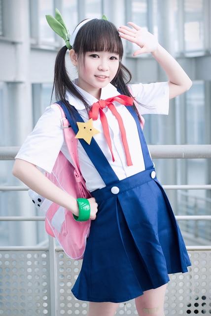 Bakemonogatari Monstory Hachikuji Mayoi high school cosplay costume CUSTOMIZED VRSION