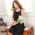 Mode 5-color silk women's 2015 summer style, square collar sleeveless sexy women nightgowns, free home delivery