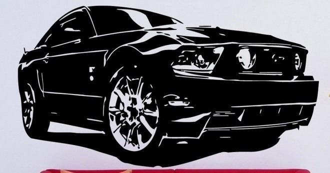 Aliexpress.com : Buy New Hot Selling Race car Wall Sticker Car Ford ...