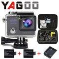 Câmera ação gopro hero 4 estilo 4 k 24fps yagoo8 prova d agua NTK96660 wi-fi Câmera de Esportes ir pro Cam Capacete de Mergulho