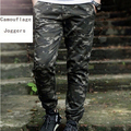 Side Zipper Camouflage Joggers Men Cotton Twill New 2017 Fashion Mens Camo Jogger Pants Elastic Waist
