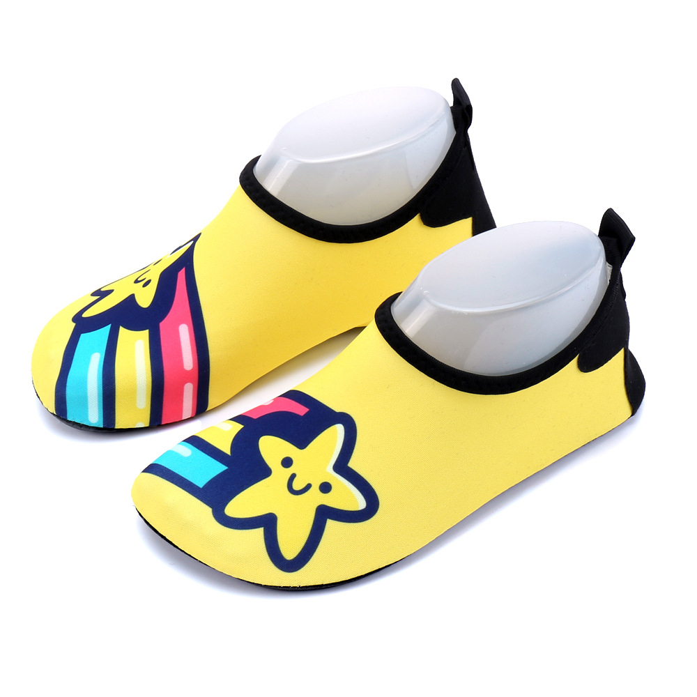 84d2887d5c8a Beach water shoes for children boys and girls cartoon unicorn diving socks  snorkeling swimming shoes treadmill yoga soft shoe-in Slippers from Mother    Kids ...