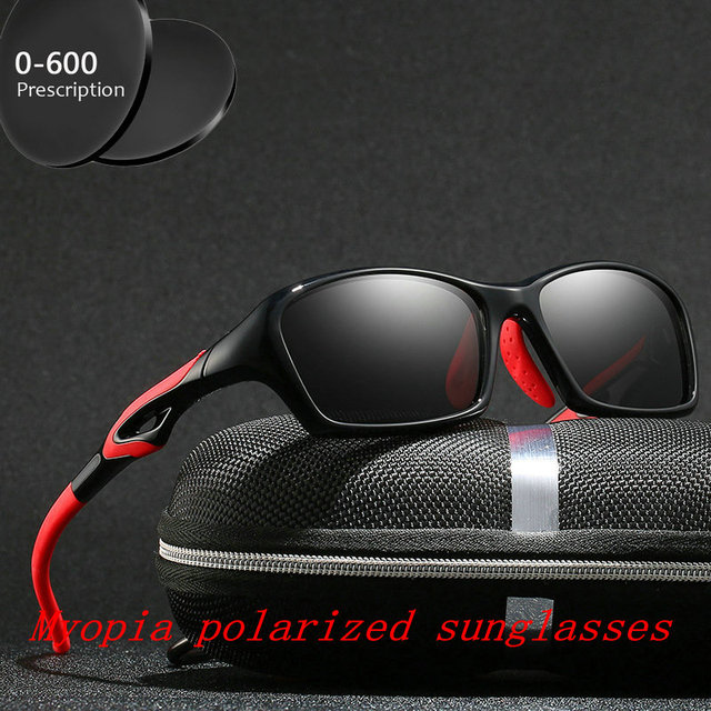 2019 Diopter Finished Myopia Polarized Sunglasses Men