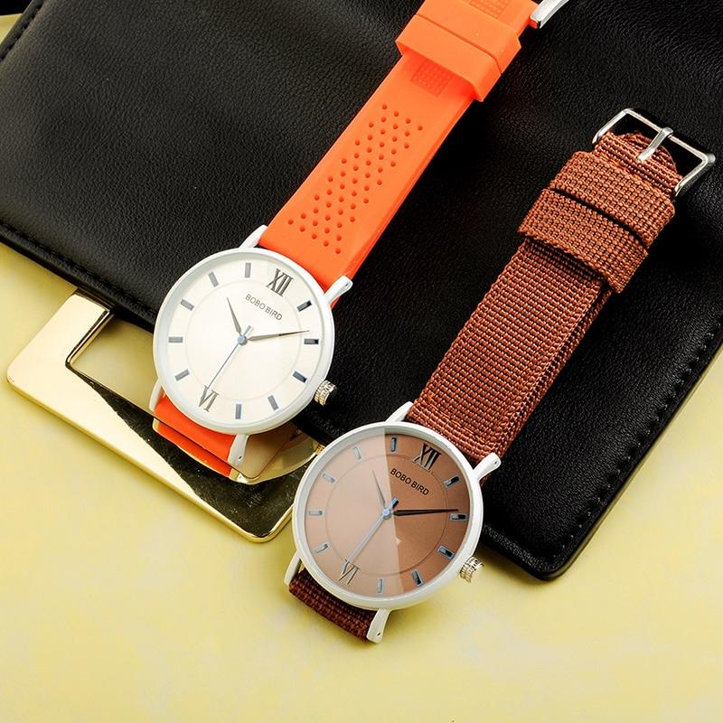 BOBO VOGEL Neue Designer Silikon Band Frauen Armbanduhren Luxus Damen Quarzuhr Geschenke Ideales damen Uhren C-P22