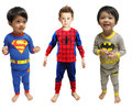 2 шт.-Паук Бэтмен Супермен Мальчиков Младенца Детей малышей Infantil Футболка Топ Брюки Пижама Пижамы Pijamas Набор Ропа де Bebe