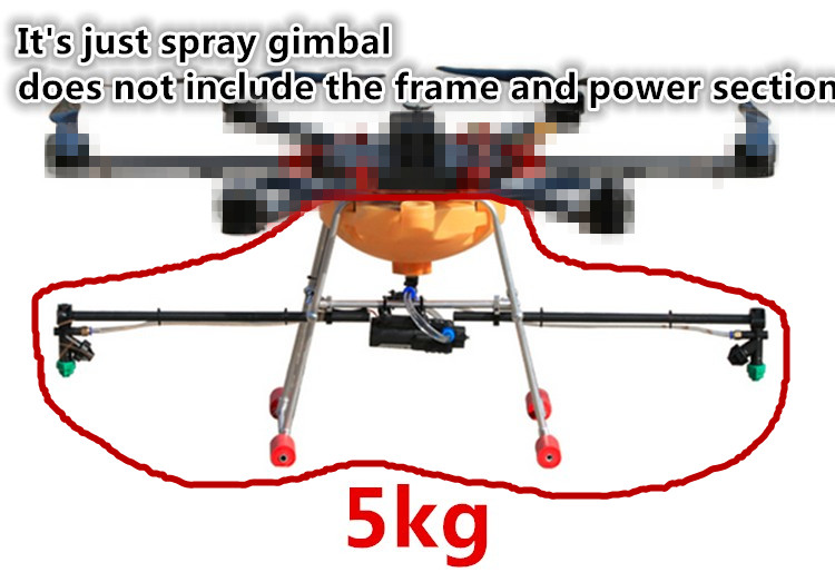 5KG the DIY Pesticide spraying system sprayer Spray Aluminum Alloy for Agricultural multi-rotor drone agricultural drone frame kit pesticide spraying drone x4 10 carbon fiber 10kg spraying uav sprayer for new gernaration farmers