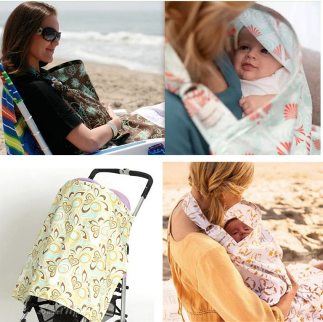 Baby Nursing Covers Multi Purpose Stretch Infinite Scarf Nursing ...