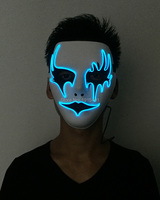 Wholesale 10pcs Neon Led Bulbs Atmosphere Lamp Led Lighting Flashing Mask EL Wire Cold Light Funny Blinking Mask for Christmas