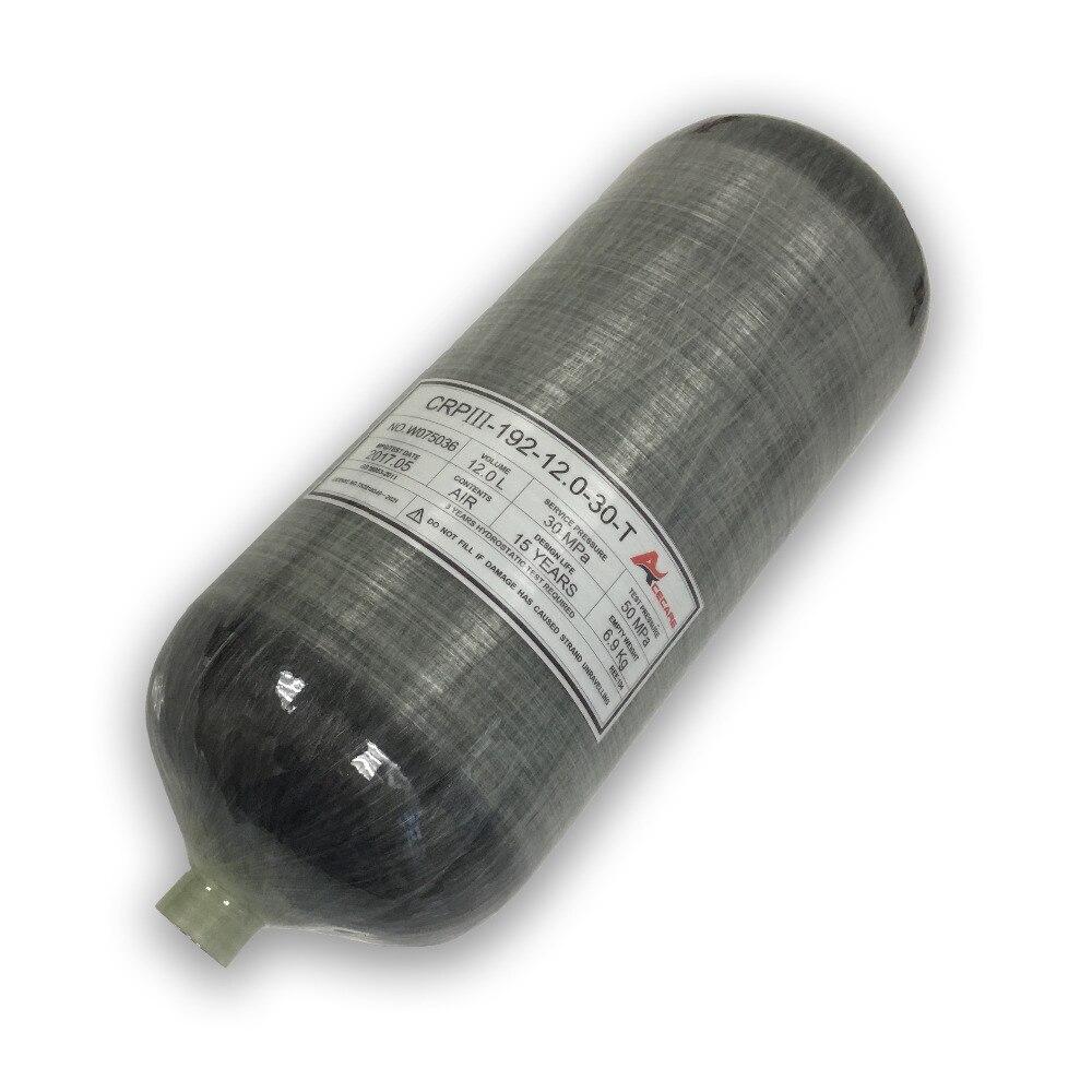 ACECARE Paintball tank 12L airforce condor fusil air pcp bouteille carbone mini réservoir de plongée plongée CE 300bar pour airgun AC3120 2019