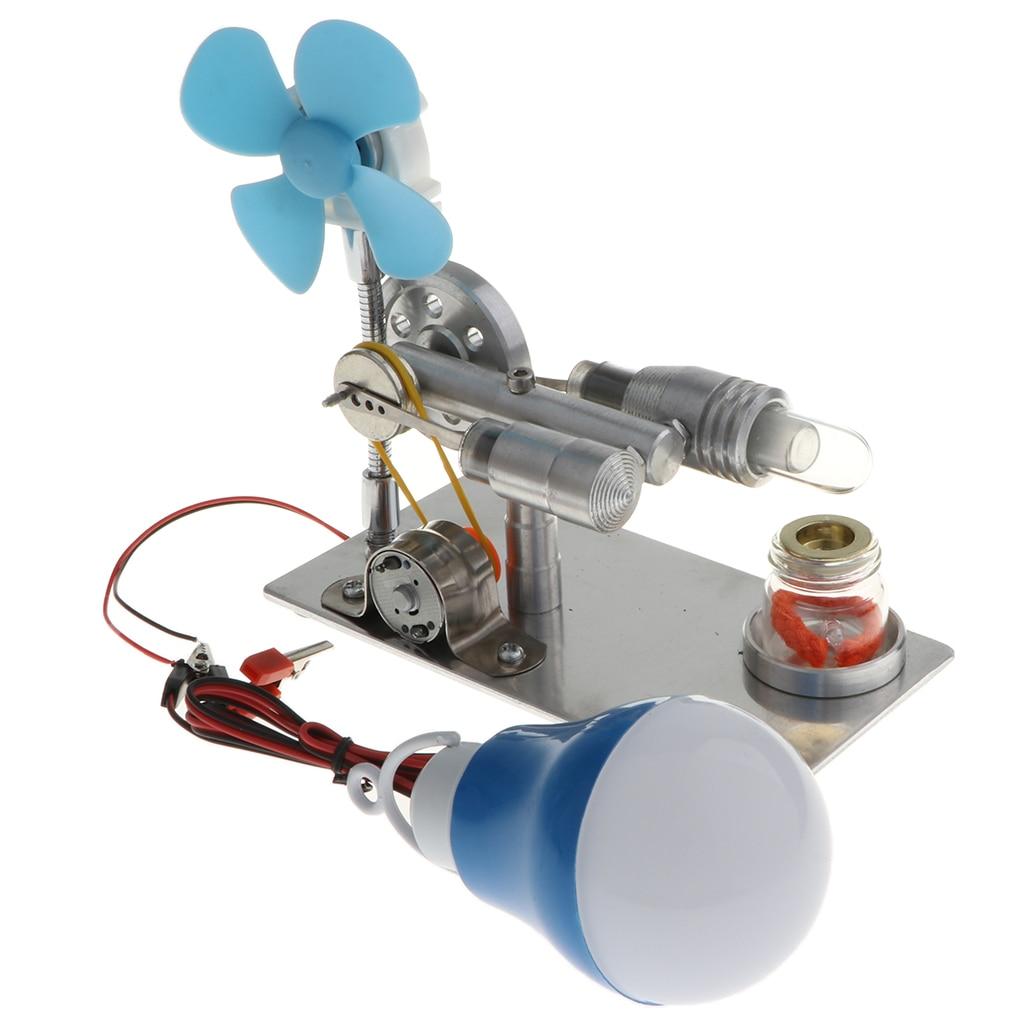 Physical DIY Fanner LED Lamp Stilring Engine Electricity Generator Model Science ToysPhysical DIY Fanner LED Lamp Stilring Engine Electricity Generator Model Science Toys