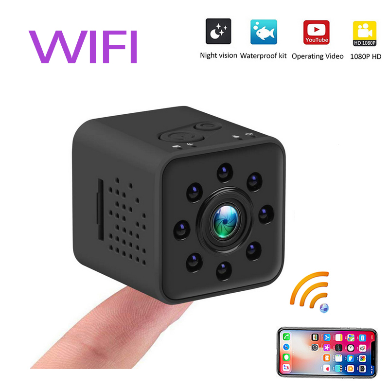 Мини камера wifi камера full HD 1080 P ночного видения водонепроницаемый корпус CMOS сенсорный регистратор видеокамера микро секретный монитор безопасности